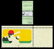 Scott 1381a 1969 6c Baseball Black Omitted Error Mint VF NH with APS Certificate