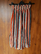 OUT FROM UNDER by URBAN OUTFITTERS PALAZZO TROUSERS Crop 3/4 Stripe S / 8-10 NEW