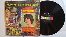 KITTY WELLS - Queen of Honky Tonk Street NM/EX 1967 COUNTRY Decca (LP) In Shrink