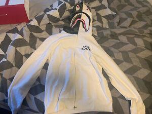 BAPE x Big Sean Shark Full Zip Hoodie White