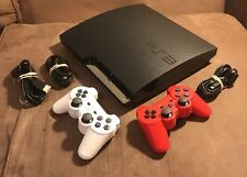 Official Sony PlayStation 3 PS3 320GB Slim Console & 2 Controllers! ~ EXCELLENT!