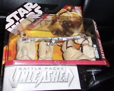 2007  STAR WARS. UNLEASHED BATTLE PACK.TROUBLE ON TATHOOINE. TUSKEN RAIDERS