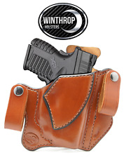 Springfield XDS RED Crimson Trace Laser 3.3 IWB Dual Snap Holster R/H Brown