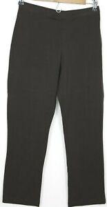SUSAN GRAVER Size MP Petite Women's Pants Activewear Yoga Stretch Brown