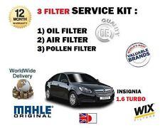 Per Vauxhall Opel Insignia 1.6 Turbo 2009 - > Nuovo Olio Aria Polline Filtro Servizio Kit