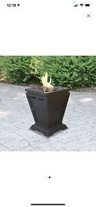 11 in. W x 11 in. D Tabletop LP Gas Fire Pit with Electronic Ignition and Lava R