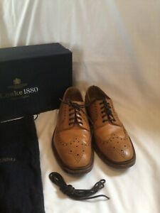 LOAKE 1880 TAN Leather CHESTER 2  Brogue SHOES. SIZE 11 F