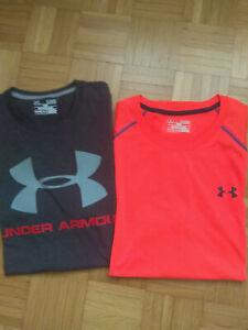 2 Under Armour - T Shirt - Gr. XL  (kurzarm) Heatgear UA Herren