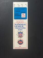1986 Ny Mets Nl Championship Ticket Stub Shea Stadium Game 5 Strawberry Hr Mint