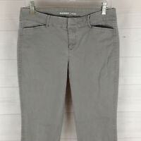 Old Navy Pixie womens size 6 stretch solid gray flat front tapered crop pants