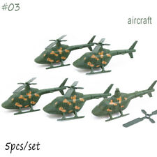 12 Poses Military Soldiers Army Men Figures Aircraft Tanks Turret Boys Toys #03 5pcs Aircraft