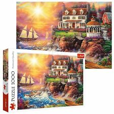 Trefl 1000 Piece Adult Large Peaceful Haven Cliff Scene Sea Ships Jigsaw Puzzle