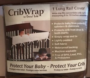 """Trend Lab Baby Fleece Crib Wrap Rail Cover for Long Rail up to 18"""" Around Wide"""
