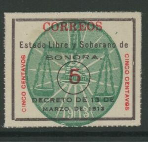 MEXICO, MINT, #340a, NG, NGAI, LILAC BROWN & RED, SONORA, CLEAN