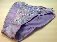 """Women Panties,Bikinis """"Eva Cervantes"""" Size L. Lavender Satin Floral W/decoration"""