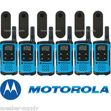 Motorola Talkabout T100TP Walkie Talkie 6 Pack Set 16 Mile Two Way Radios Blue