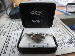 Harley Davidson Stamper Platinet B&S Emblem Square Silhouette Men Ring PRG7494