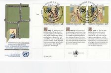 United Nations 1990 droits de l'homme série unadressed (2) FDC