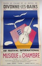 affiche DIVONNE LES BAINS 1961 André de Moyencourt Festival Musique de Chambre
