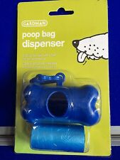 Nuevo Bolso Perfumado Caca Dispensador Hueso Azul Clip Recargable mascota perro caminar Gardman
