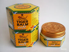 2x TIGER BALM SOFT, Ointment Relief Muscular Pain, Aches, Sprains /50gm