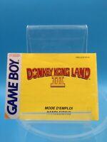 jeu video notice BE nintendo game boy donkey kong land III 3 FAH