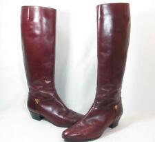Vintage Salvatore Ferragamo Knee High Boot Women size 8.5 Burgundy