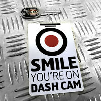 1X SMILE YOU'RE ON DASH CAM FUNNY CAR STICKER DECAL YOUNG DRIVER BUMPER VINYL