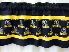 "Pittsburgh Steelers NFL Football Valance Black Gold Black Print 40"",52"",80""x 13"""
