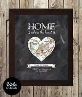 New home gift / personalised print / OS map