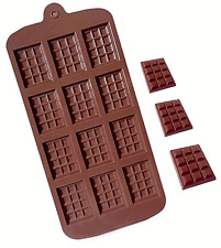 12 cells silicone Chocolate Bar Mould Cake Candy Sugarcraft Bake Mold