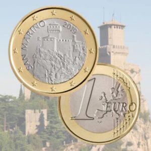 """1 Euro Saint Marin 2019 Pièce de Circulation """"La Cesta"""" PROMO MAI !!!!!!!!!!"""
