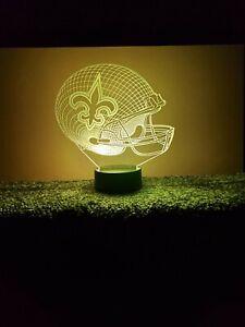 New New Orleans Saints Multi Color LED Helmet 3D Lamp / Night Light / Man Cave