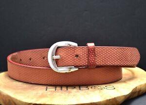 Vanzetti Vintage Womens Leather Belt Brown Size 38