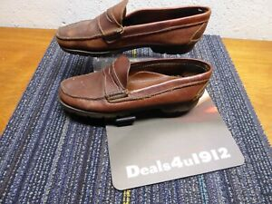 Gokey Leather Penny Loafer Boat Shoes Moccasins Men's Size 9.5 Good Pre Owned