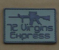 """PVC / Rubber Patch """"72 Virgin Express"""" with VELCRO® brand hook"""