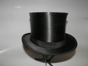 Antiker Zylinder Hut Chapeau Claque Klappzylinder Top Hat Gr 57 Böger / Bochum