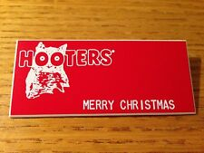 RARE HOOTERS Halloween Costume Waitress Uniform BLANK NAME TAG RED Christmas