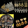 Gold Silver Indian Bollywood Women Jhumka Earring Traditional Set Jewelry Gift