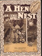 Hen on the Nest 1904 Large Format Sheet Music
