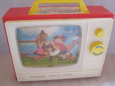 ANCIEN JEU JOUET VINTAGE FISHER PRICE TV MUSIC TBE TWO TUNE TV