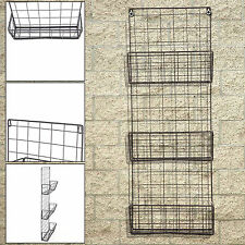 Vintage Style Metal Wall Shelf Unit Rack Storage Cupboard Cabinet 3 Units Frame