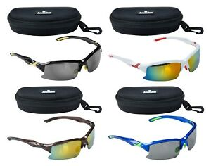 ACCLAIM Titan Cricket Sunglasses Plastic Frame Rainbow & Tinted Lens Case Cloth