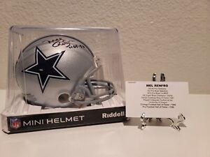 Mel Renfro Cowboys Signed, HOF Auto Mini Helmet Tristar COA