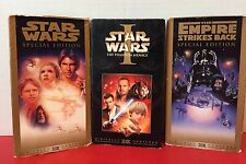 Lot Of 3 Vintage Star Wars VHS Movies Collectible Gift