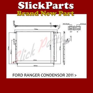 FORD RANGER AIR CON CONDENSOR 2.2 3.2 TDCi 2.5 16v 2011 2012 2013 2014 2015 2016