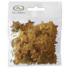 """Dispersión de la tabla de Navidad """"Oro"""" Polvo de Estrellas Confeti 15g Mesa Festivo Decoración"""