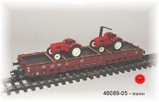 Märklin 46089-05 Rungenwagen Rr 20 der DB beladen mit 2 Traktoren#NEU in OVP#