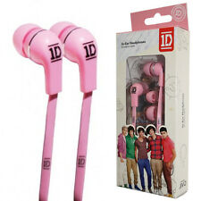 ONE DIRECTION 3.5mm Pin PINK High Quality IN EAR Headset Flat Cable, Retail Pack