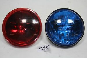 Police passing lamps RED BLUE bulbs FXRP FLHP Harley Sheriff Law lights EPS22547